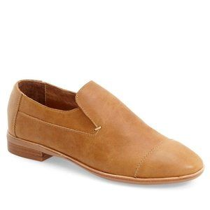 NEW Jeffrey Campbell tan leather slip on loafer